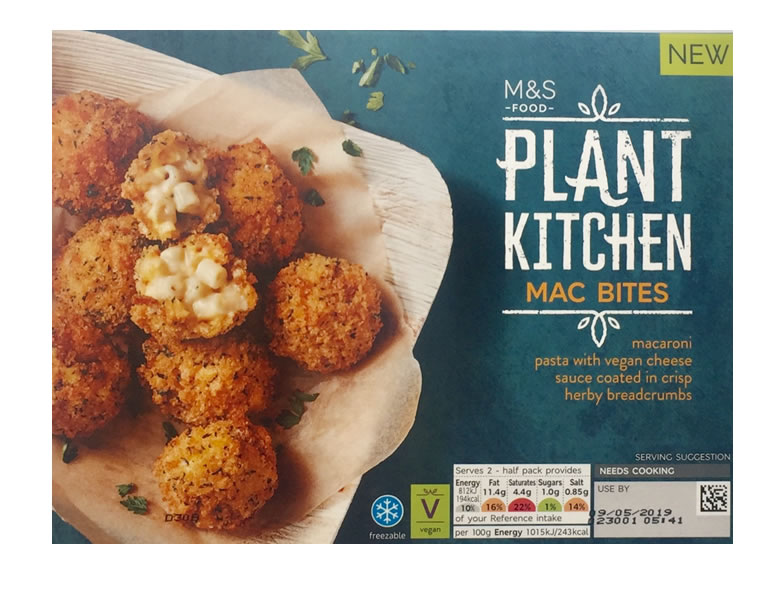 Image of Marks and Spencer vegan Mac bites