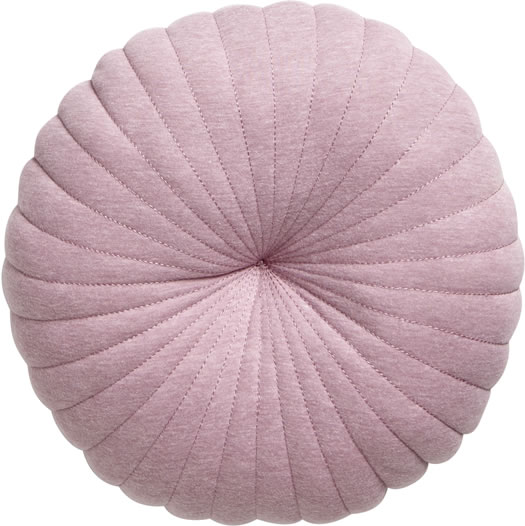 House by John Lewis Round Cushion, Mauve