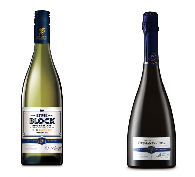 Aldi SILVER Crémant du Jura 2016 (£8.29) Exquisite Lyme Block English Wine 2018 (£9.99)
