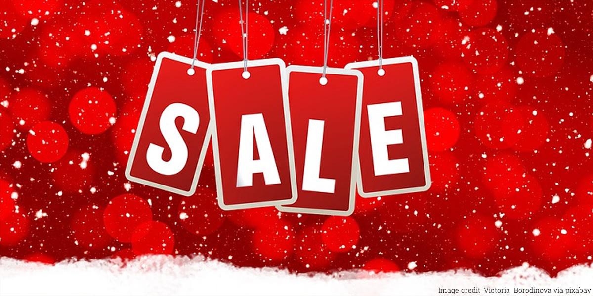Image of Christmas sales shopping