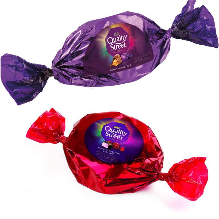 Quality Street - The BIG Purple and BIG Strawberry