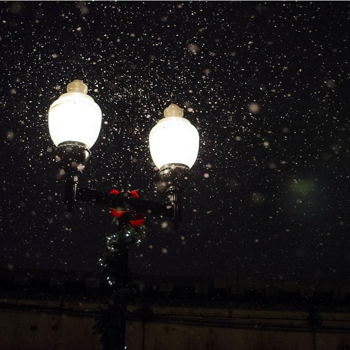 Street lamps at christmas