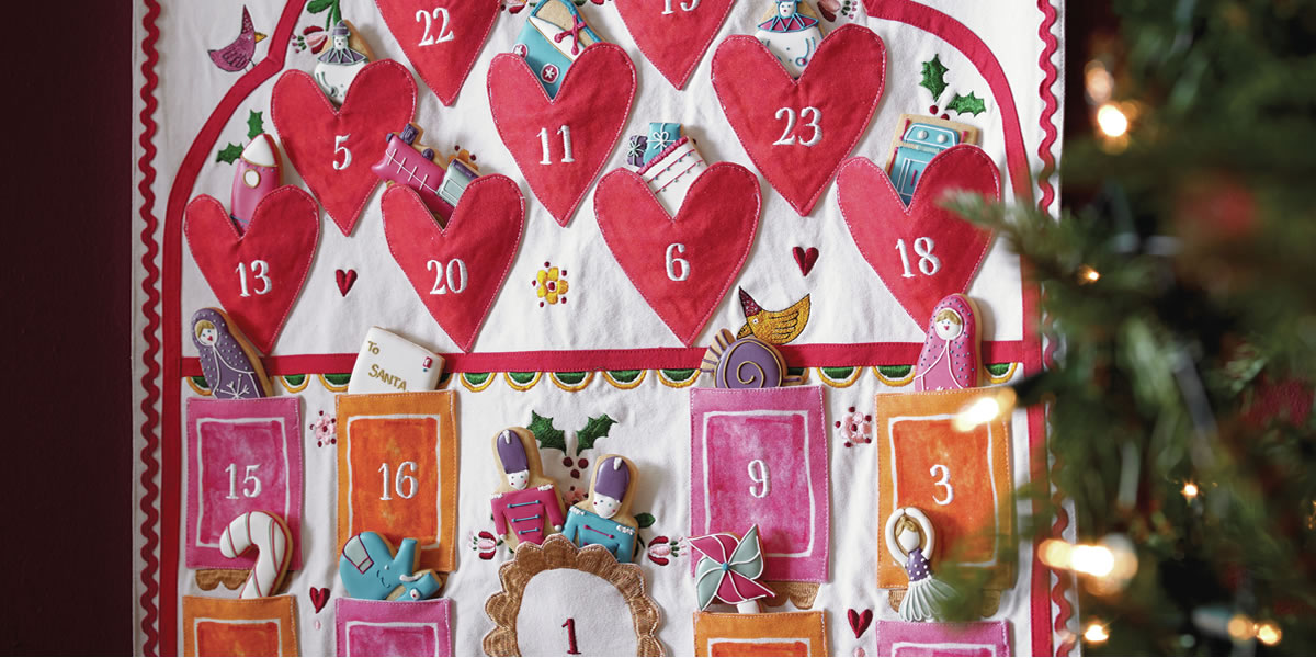 Biscuiteers and Sophie Conran Advent Calendar with Advent 24 Luxe Tin