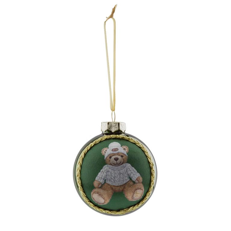 Joshua Christmas Bear 2019 Silk Panel Bauble £15.00