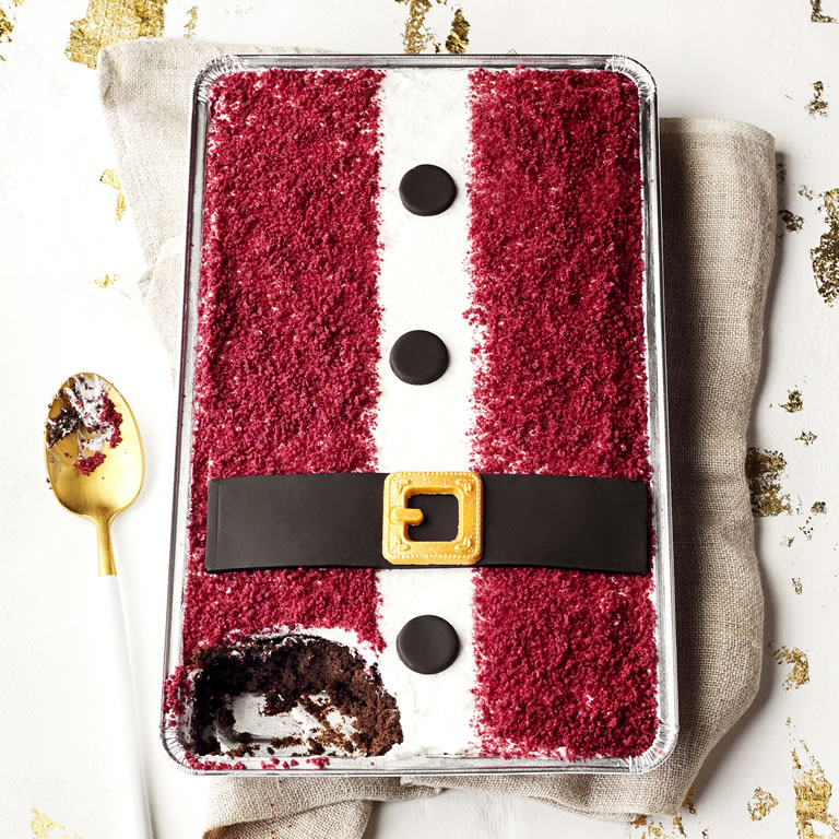Waitrose & Partners Santa Chocolate Tray Bake