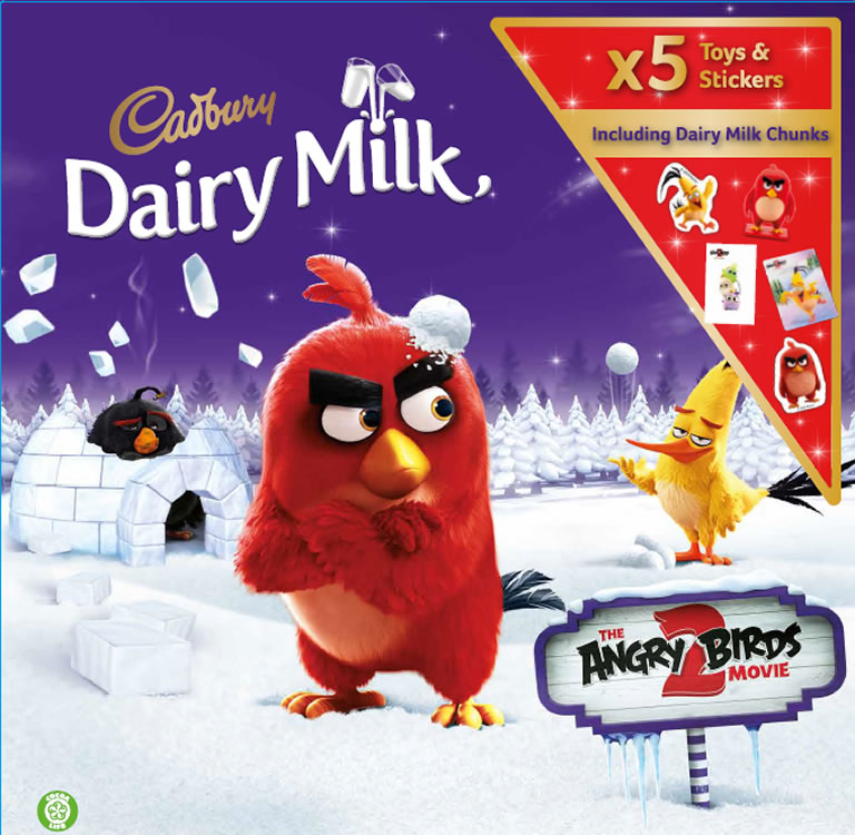 Cadbury Dairy Milk Angry Birds Advent Calendar 2019