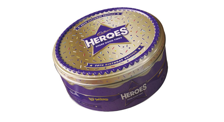 limited edition 20th birthday Heroes tin