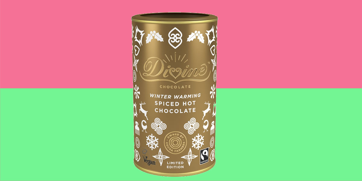 Divine Chocolate Winter warming spiced hot chocolate
