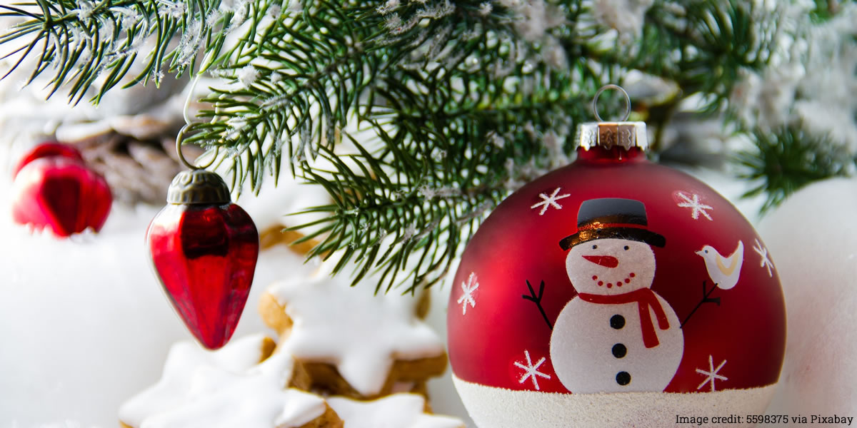 Image of Christmas decorations