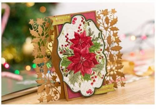 Image of Crafter's Companion Nature's Garden 12in x 12in Paper Pad 40 Sheets - Poinsettia Perfection