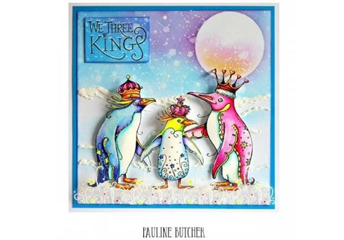 Image of Pink Ink Designs A5 Clear Stamp Set We Three Kings - Set of 7