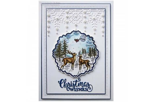 Image of Sue Wilson Die Set Pearly Snowflake Border - Festive Collection