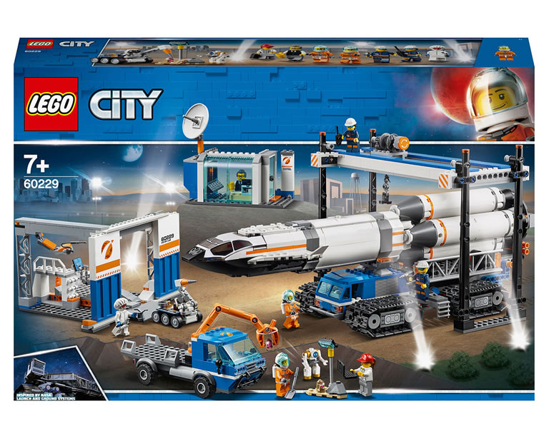 LEGO Rocket Assembly & Transport Space Port