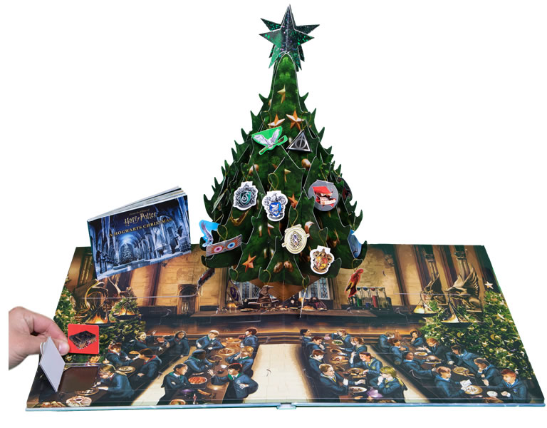 Image of Harry Potter: A Hogwarts Christmas Pop Up book open