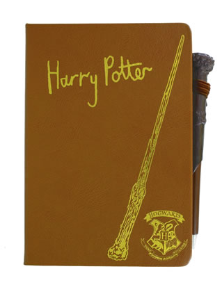 Image of Harry Potter notebook and pen