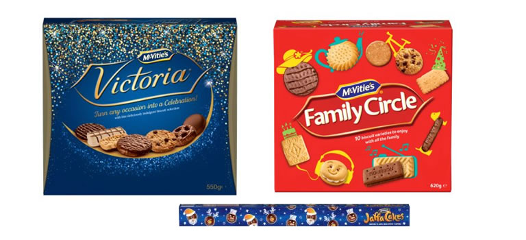 McVities Victoria, Family Circle and Jaffa Cakes Gift Packs