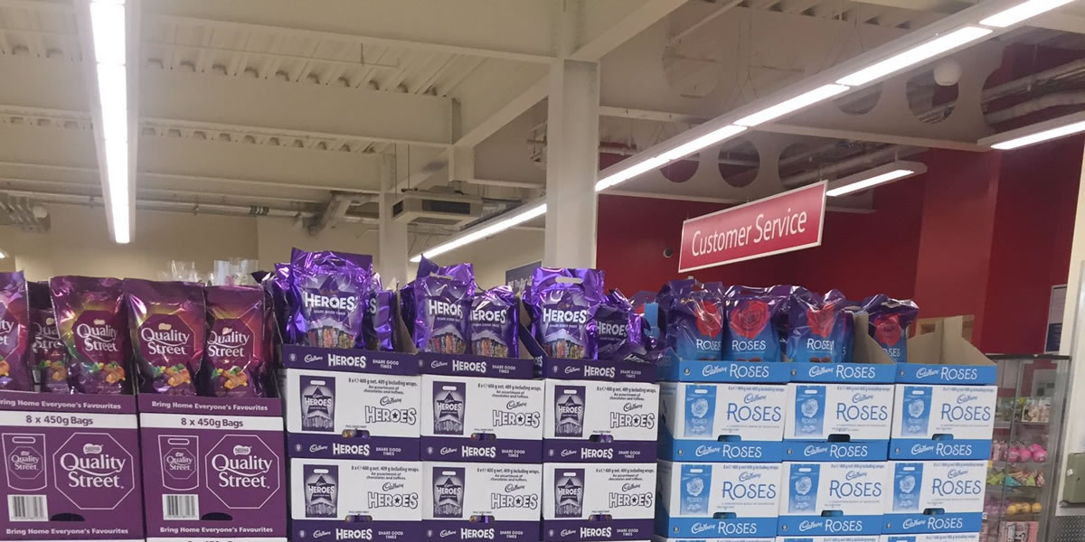 Tesco Christmas Chocolate Pouches spotted