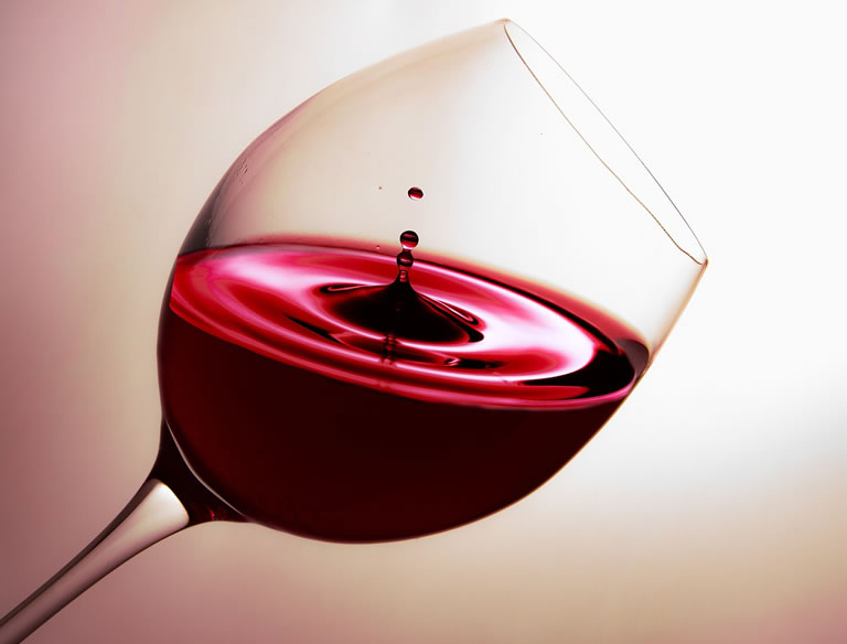 Red wine spilled