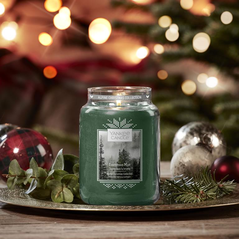 Yankee Candle Alpine Christmas Evergreen Mist Large Jar