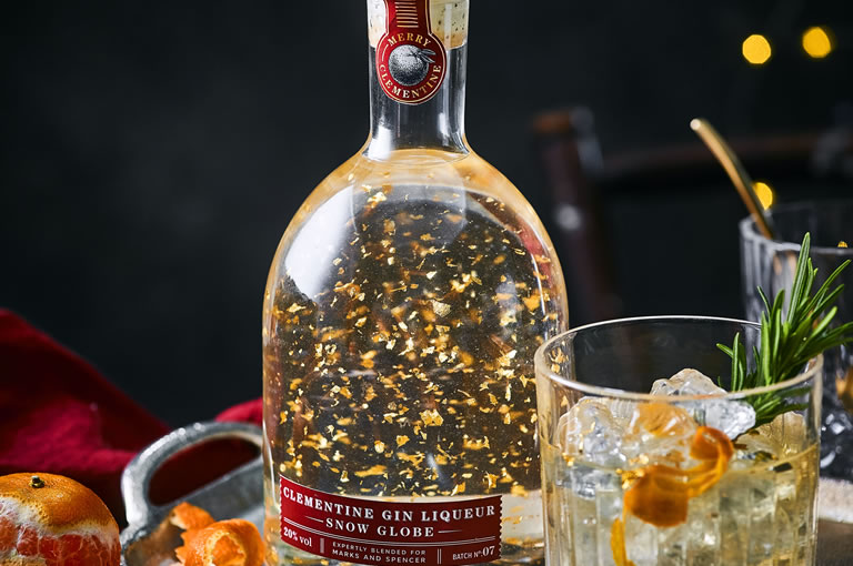 M&S Christmas: Clementine Gin Liqueur Snow Globe