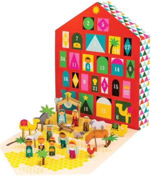 Hurn Hurn, Petit Collage Nativity Advent Calendar 3D Puzzle