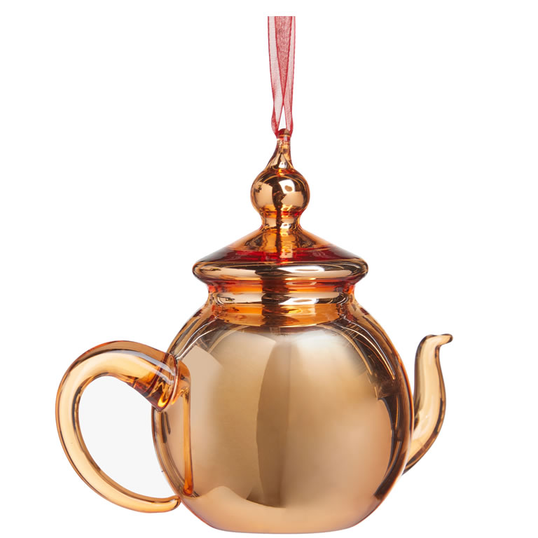 John Lewis & Partners Traditions Teapot Bauble, Copper £8.00