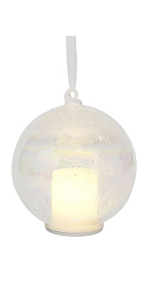 LED Iridescent Hanging Candle Tress Decoration, £4.00, Matalan