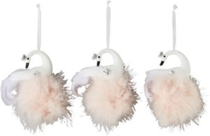 Swan Christmas Tree Decorations (Set of 3), £14.99, Very