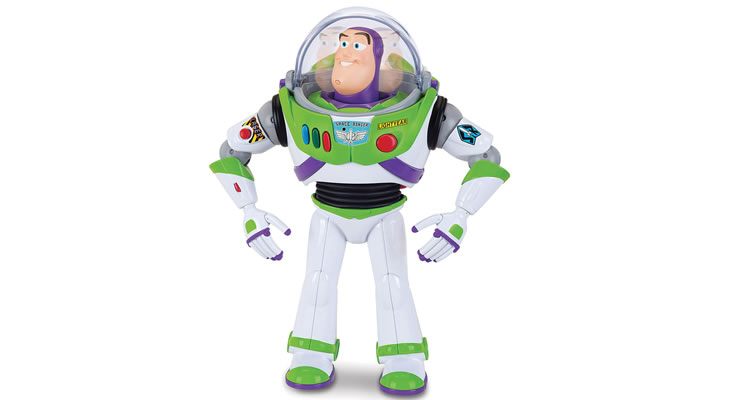 Toy Story Buzz Lightyear with Interactive Drop Down Action Talking Action Figure - £79.99
