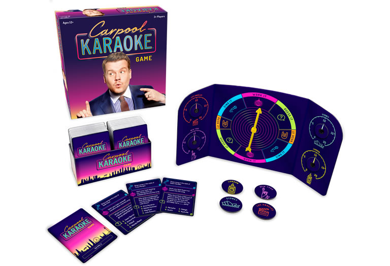 Image of Carpool Karaoke board game out of box