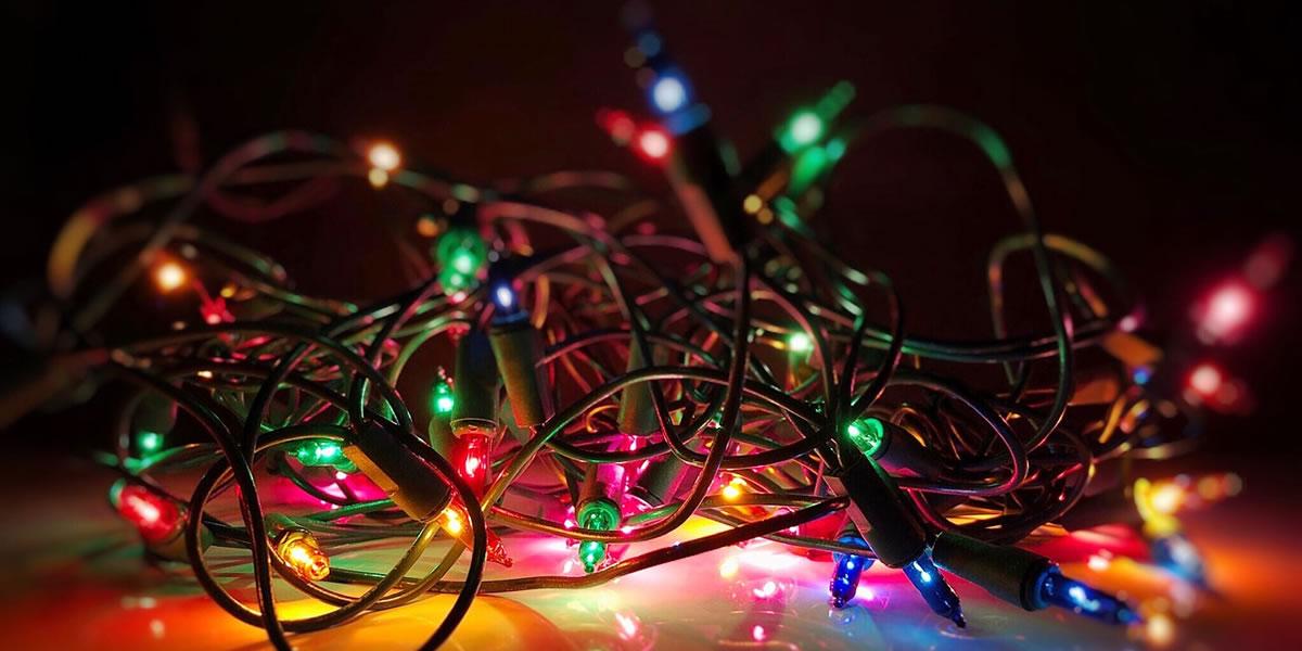 Image of Christmas lights on