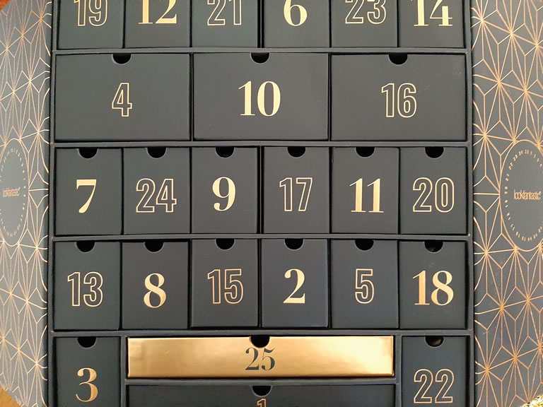 Image of LookFantastic advent calendar open