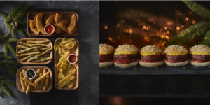 40 Tempura Vegetable Selection & No Bull Burgers