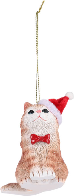 Paperchase Cat in hat Christmas tree decoration
