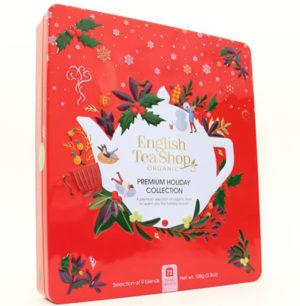 English Tea Shop Premium Holiday Collection Red Gift Tin