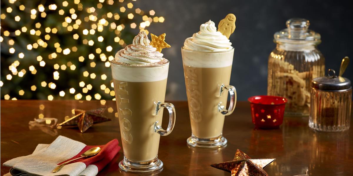 Costa Coffee Christmas 2019 menu and drinks
