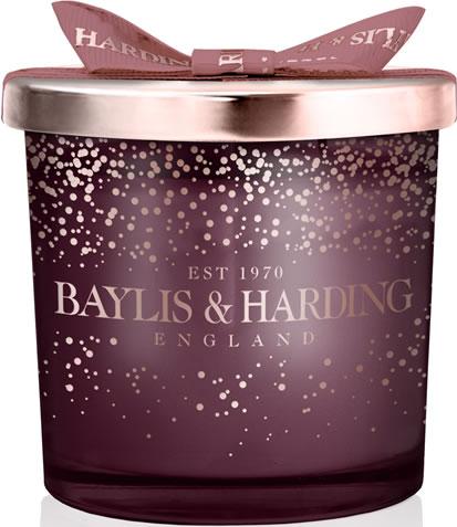 Baylis and Harding plum and wild blackberry candle