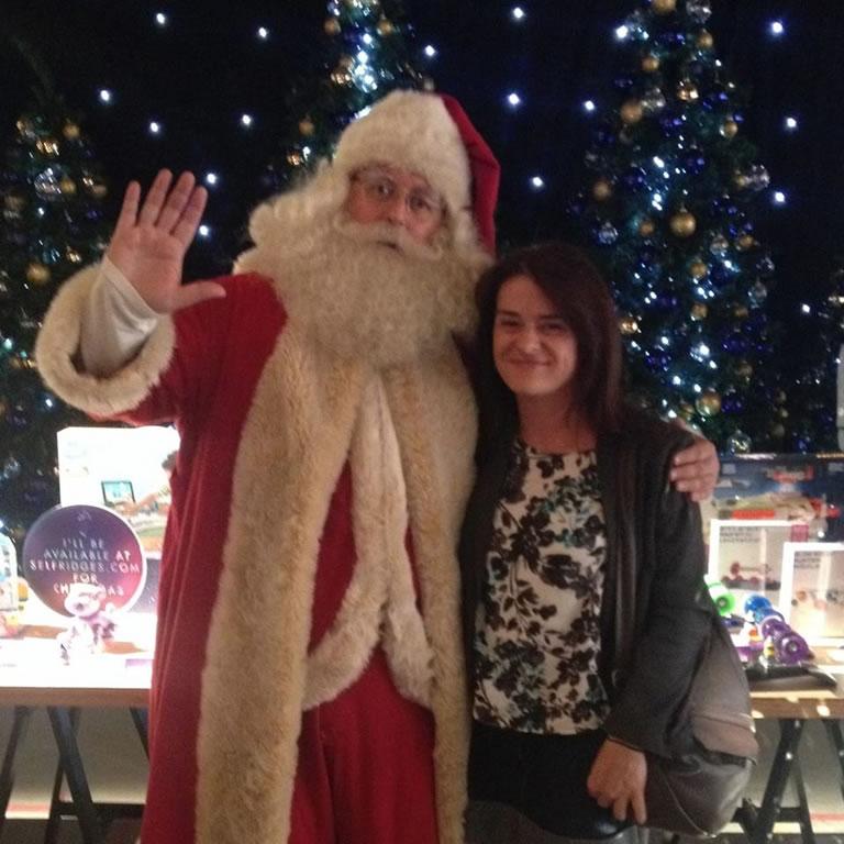 Bernadette Fallon With Santa