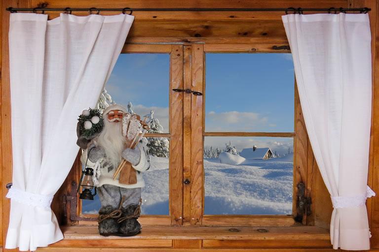 Christmas curtains