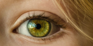 Close up of persons eye