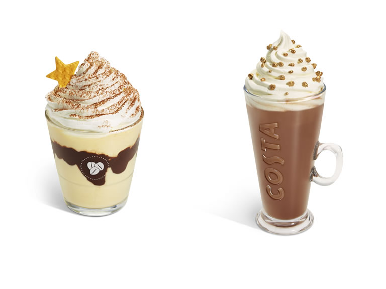 Costa Coffee Frostino Irish Velvet / Hazelnut Praline Hot Chocolate