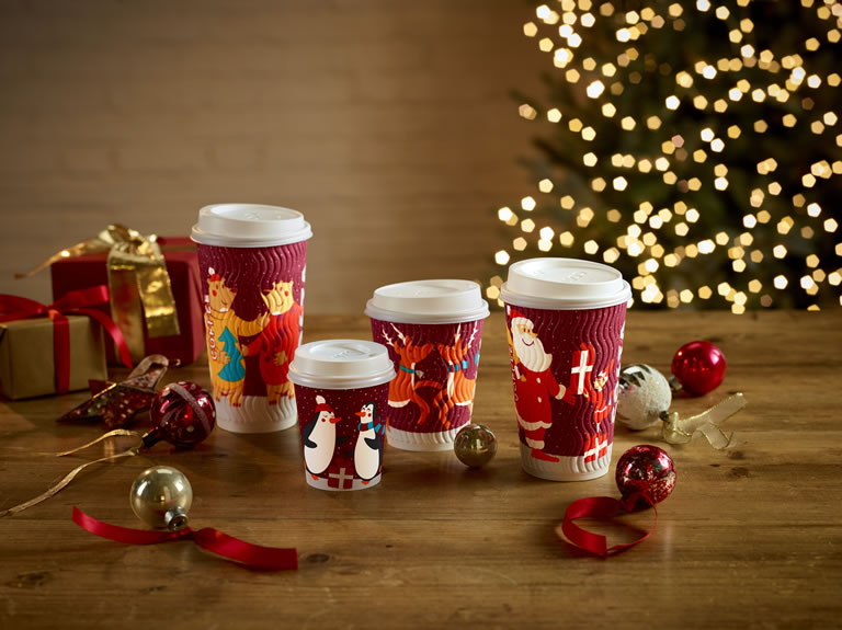 Costa Coffee recyclable christmas cups