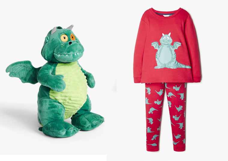 Cuddly Edgar toy £15 and Edgar character children's pyjamas £17 - £19