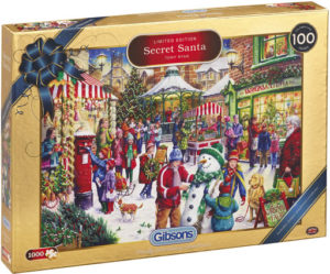 Gibsons Secret Santa Christmas Limited Edition Jigsaw Puzzle, 1000 Pieces