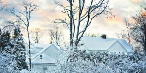 House with snow