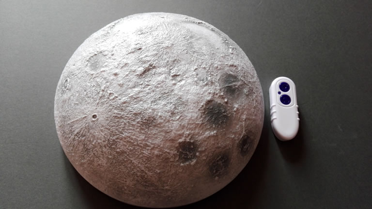 Image of my very own moon with remote