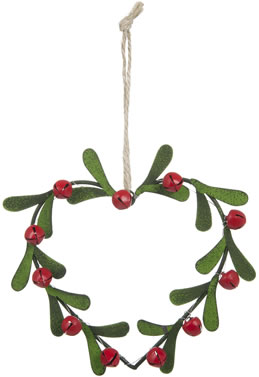 Laura Ashley Berries And Heart Wreath Tree Decoration