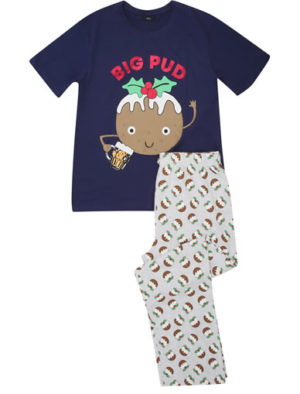 M&Co mens big pud pyjamas