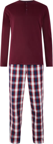 Marks And Spencers Mens Checked Pyjamas