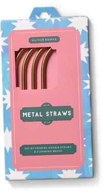 Oliver Bonas metal straws